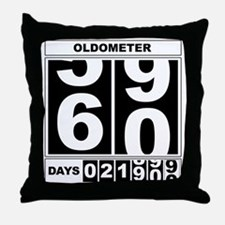 60th Birthday Oldometer Throw Pillow
