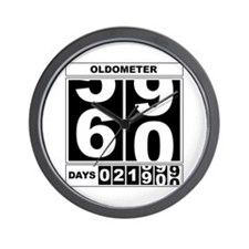 60th Birthday Oldometer Wall Clock