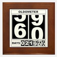 60th Birthday Oldometer Framed Tile