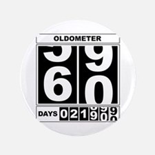"60th Birthday Oldometer 3.5"" Button"