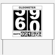 60th Birthday Oldometer Yard Sign