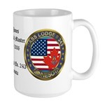 Masonic rtj WM Personalized Large Mug