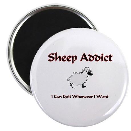 "Sheep Addict 2.25"" Magnet (10 pack)"