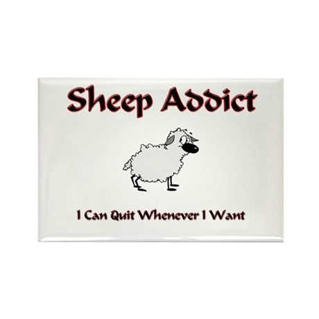 Sheep Addict Rectangle Magnet (10 pack)