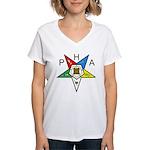PHA Eastern Star Women's V-Neck T-Shirt