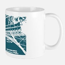 Papery image of the Eiffel Tower Paris! Mug
