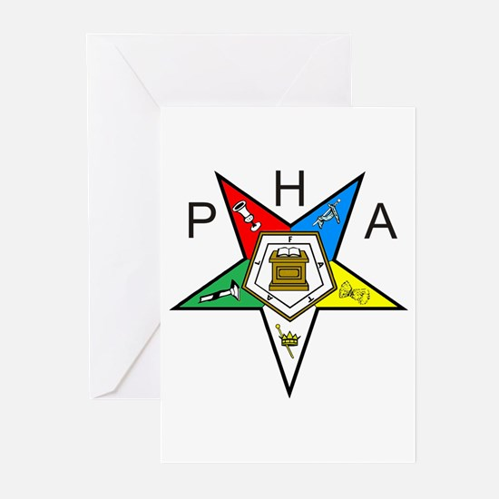 PHA Eastern Star Greeting Cards (Pk of 10)