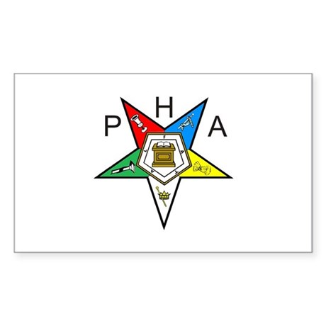 PHA Eastern Star Sticker (Rectangle)