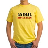 Animal rescue groups Mens Yellow T-shirts
