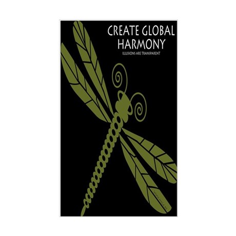 Create Global Harmony Rectangle Sticker