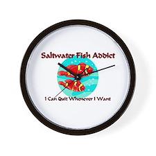 Saltwater Fish Addict Wall Clock