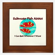 Saltwater Fish Addict Framed Tile