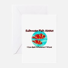 Saltwater Fish Addict Greeting Cards (Pk of 10)