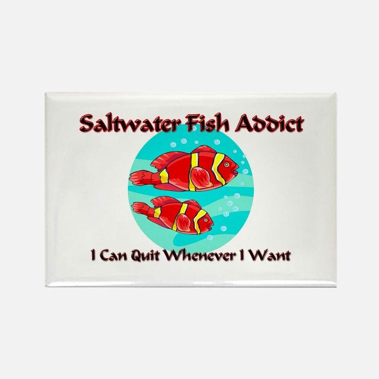 Saltwater Fish Addict Rectangle Magnet