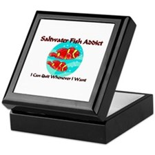 Saltwater Fish Addict Keepsake Box