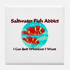 Saltwater Fish Addict Tile Coaster
