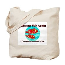 Saltwater Fish Addict Tote Bag