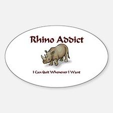 Rhino Addict Oval Decal