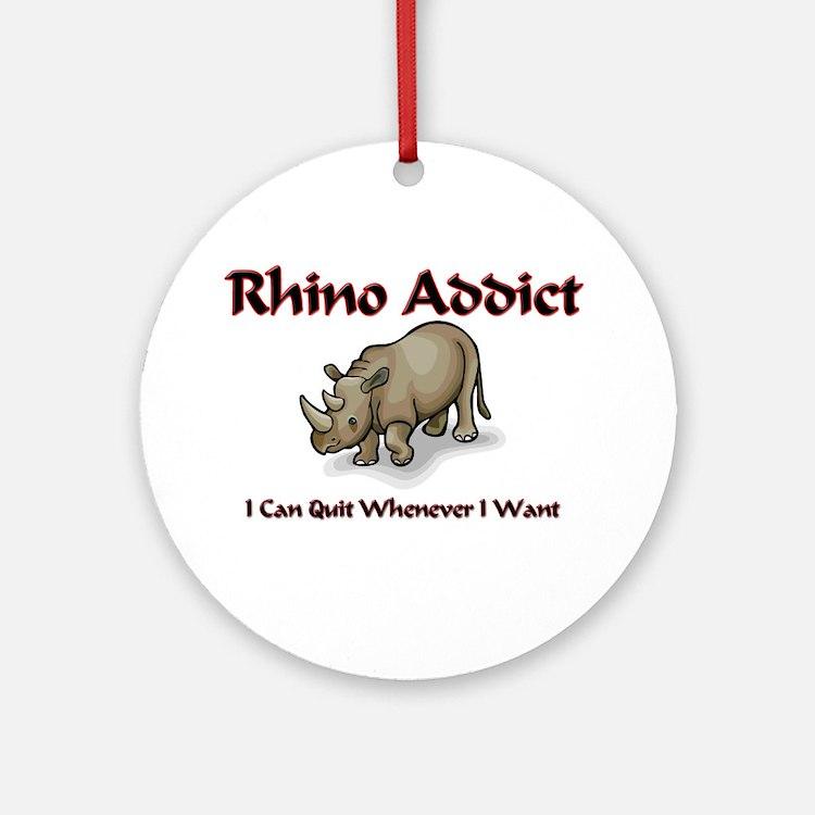 Rhino Addict Ornament (Round)