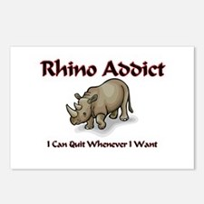 Rhino Addict Postcards (Package of 8)