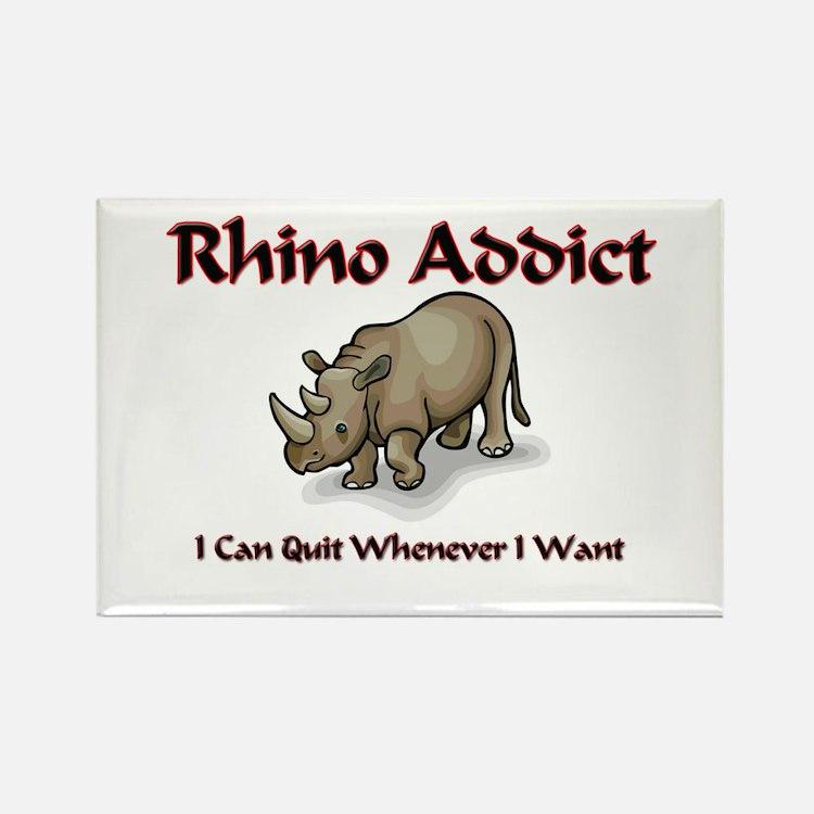 Rhino Addict Rectangle Magnet