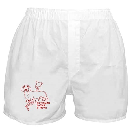 my dog is huge in japan Boxer Shorts
