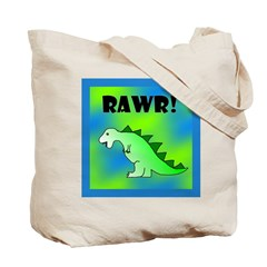 RAWR! Diaper/library/book/Tote Bag