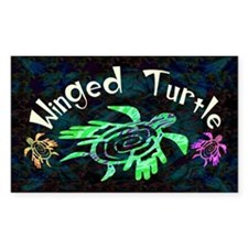 Winged Turtle Decal