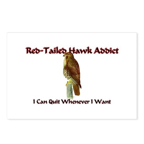 Red-Tailed Hawk Addict Postcards (Package of 8)
