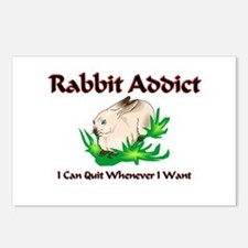 Rabbit Addict Postcards (Package of 8)