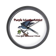 Purple Martin Addict Wall Clock