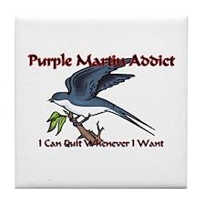 Purple Martin Addict Tile Coaster