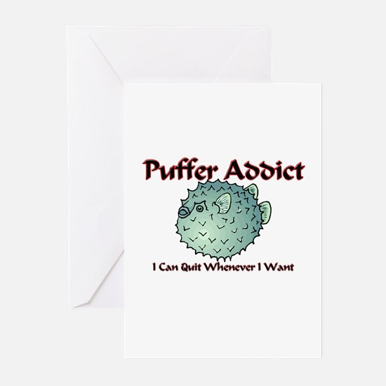 Puffer Addict Greeting Cards (Pk of 10)