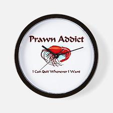 Prawn Addict Wall Clock