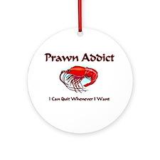 Prawn Addict Ornament (Round)