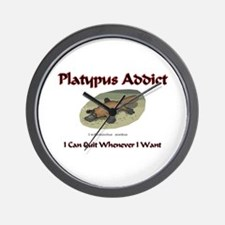 Platypus Addict Wall Clock