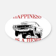 AFTMHappinessIsAHemi!.jpg Oval Car Magnet