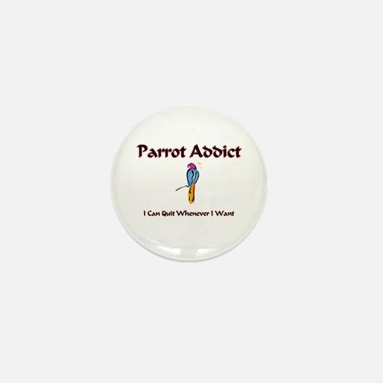 Parrot Addict Mini Button