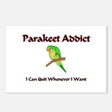 Parakeet Addict Postcards (Package of 8)