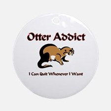 Otter Addict Ornament (Round)