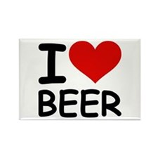 I LOVE BEER Rectangle Magnet