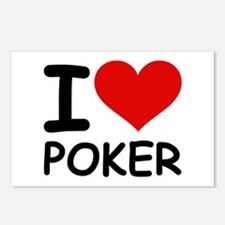 I LOVE POKER Postcards (Package of 8)