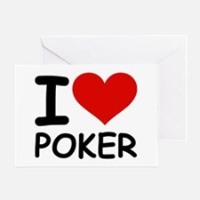 I LOVE POKER Greeting Card