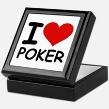 I LOVE POKER Keepsake Box