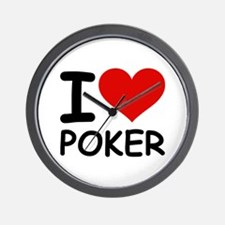 I LOVE POKER Wall Clock