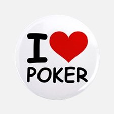 "I LOVE POKER 3.5"" Button (100 pack)"