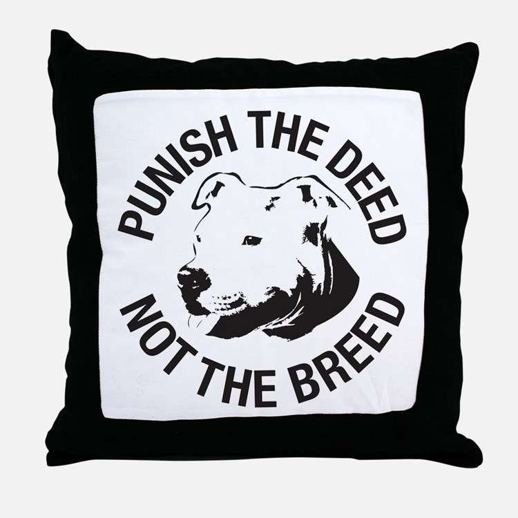 Punish the Deed - Throw Pillow