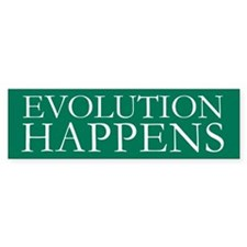 Evolution Happens Bumper Car Sticker