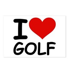I LOVE GOLF Postcards (Package of 8)