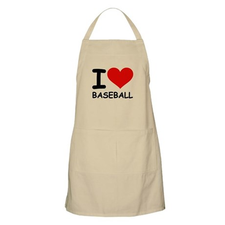 I LOVE BASEBALL BBQ Apron